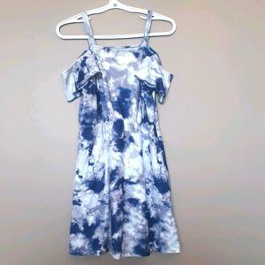 Epic Threads Girls Size 6 Blue & White Dress